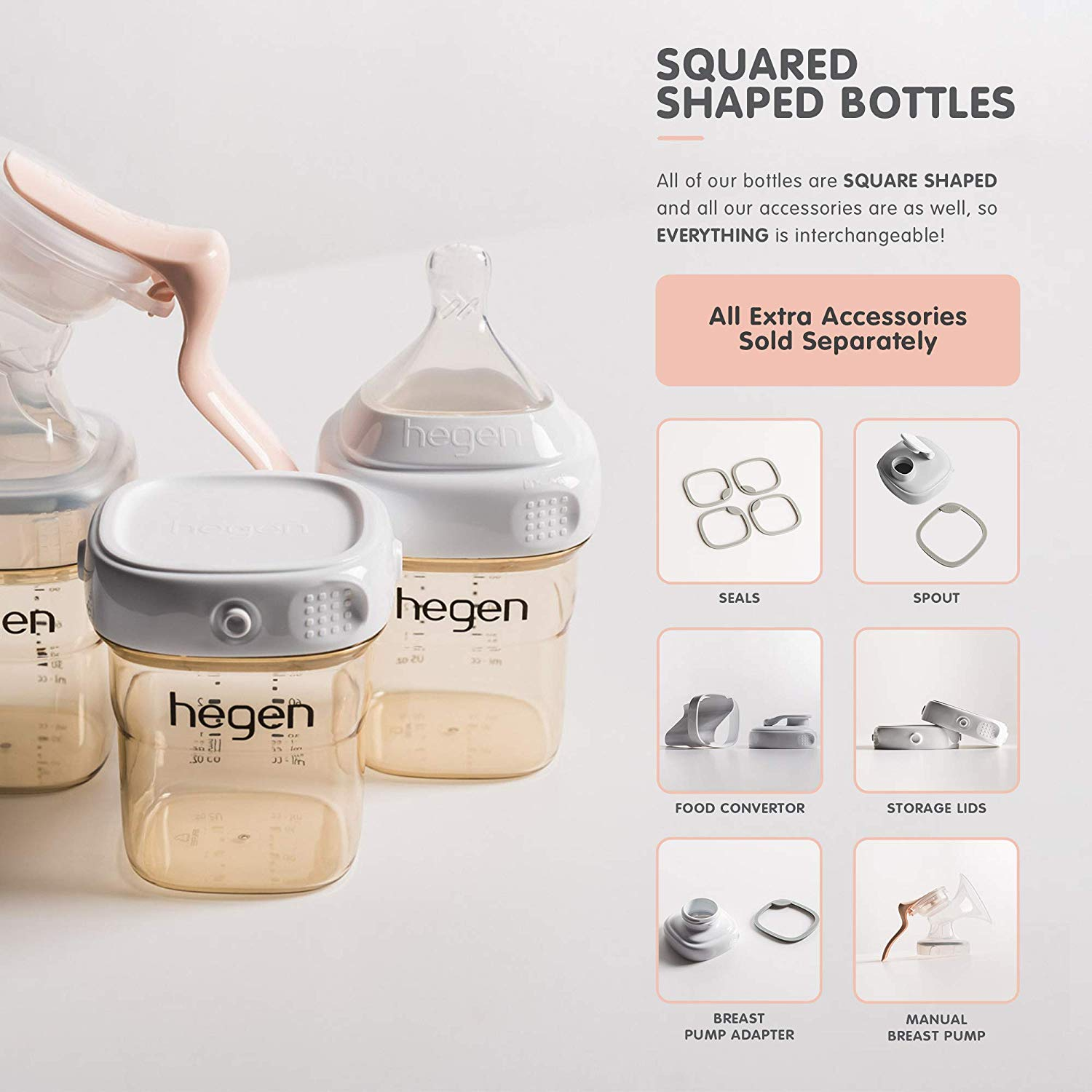 Original Hegen PCTO 150ml/5oz Feeding Bottle PPSU (2pcs) | | Enjoy  Breastfeed Centre